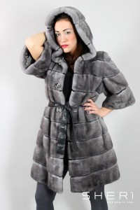 117/255 - Dark mink coat - Code: 10004