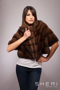 Bianca - demi mink warm jacket-buff - Code: 10009/3