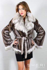 9200 - silver mink jacket - nickel silver fox - Code: 10009