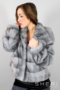 Lembo - dark mink jacket with hood - Code: 10010/2