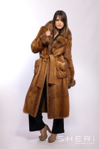 Gilda - Discolored mink coat + sable - Code 10023