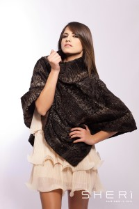 Capri - brown Persian poncho - Code: 1009