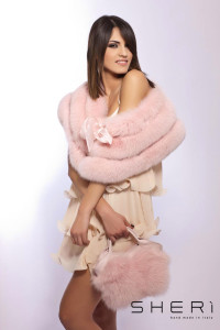 401- Pink fox shoulder cover - Code: 113