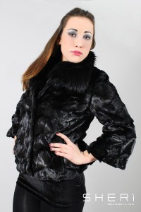 855 - mink jacket - black fox - Code: 3001