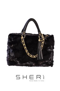 1028 - Mink black bag - Code: 500