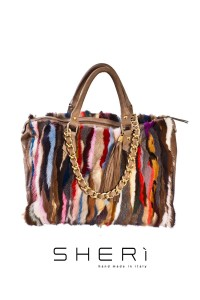 1028 - Multicolor mink bag - Code: 501
