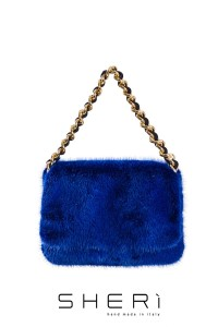 1203 - Blue mink bag - Code: 514