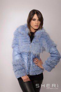 303 - fox warm jacket - lavender lambskin - Code: 603