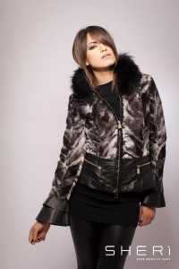 2000 - goatskin warm jacket - raccon dog - black tassel - Code: 608