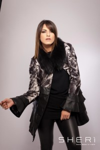 2012 - Goatskin kid coat + raccon dog + black tassel - Code: 609