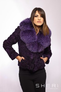 151 - Persian jacket - violet fox - Code: 9006