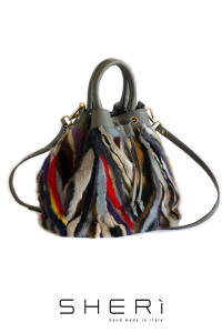 Secchio - multicolor Mink bag - Jolie Collection