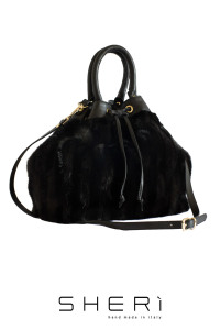 Secchio - black Mink bag - Jolie Collection