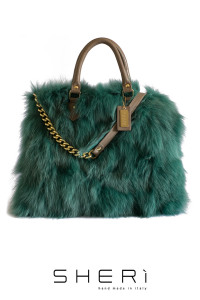 Shopping - green Fox bag - Jolie Collection