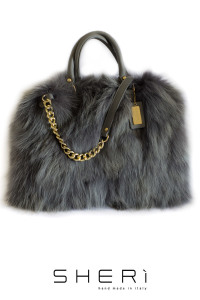 Shopping - gray Fox bag - Jolie Collection