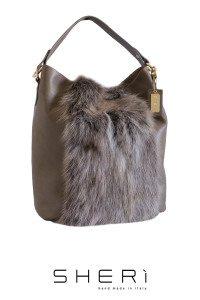 Secchio aperto - brown Fox bag - Jolie Collection