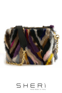 Pochette - multicolor Mink bag - Jolie Collection