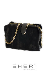 Pochette - black Mink bag - Jolie Collection