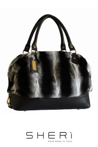 Bauletto - Rex rabbit bag chincilla - Jolie Collection