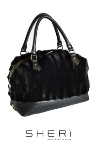 Bauletto - black Mink bag - Jolie Collection