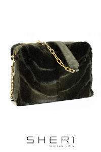 Pochette - green Fox bag - Jolie Collection