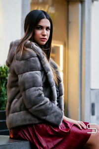 Vanity - gray Mink jacket - Jolie Collection
