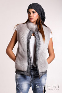 5450 - gray Fox waistcoat - Jolie Collection