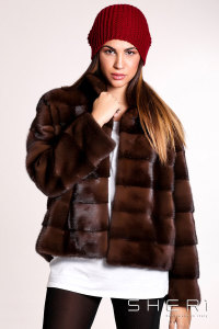 5468 - brown Mink jacket - Jolie Collection