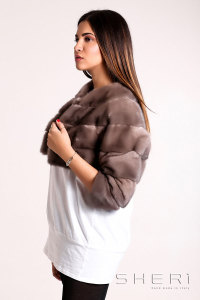 Bolerino - brown Mink warm jacket - Jolie Collection