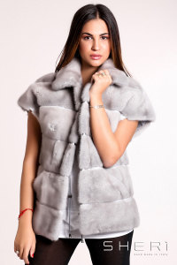 Franca - gray Mink waistcoat - Jolie Collection