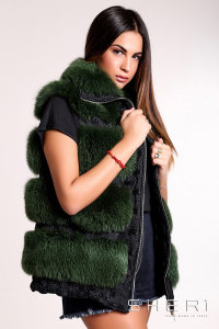 Lucia - green Fox waistcoat - Jolie Collection