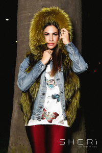 Artic - yellow Fox waistcoat - Jolie Collection