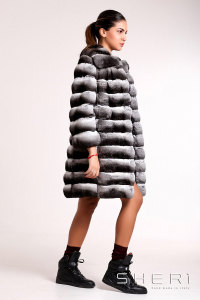 G-04 - gray-black Chinchilla coat - Jolie Collection