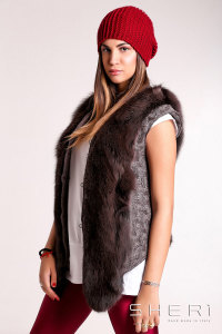 Genny - brown Fox waistcoat - Jolie Collection
