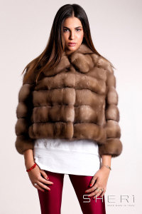 Lory - brown Sable warm jacket - Jolie Collection