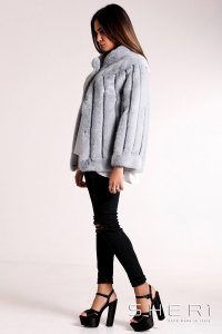 Simonetta - gray Mink jacket - Jolie Collection