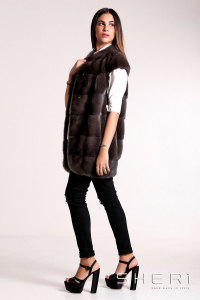 RF464 - gray Mink waistcoat - Jolie Collection