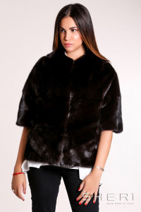 910 - brown Mink jacket - Jolie Collection