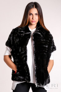 Casacca - black Mink waistcoat - Jolie Collection