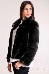 G-01 - black Mink jacket - Jolie Collection