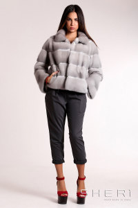 Tommi B - gray Mink jacket - Jolie Collection