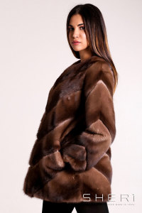 5470 - brown Mink jacket - Jolie Collection